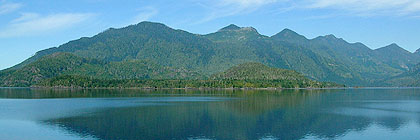 Kenndy Lake, from the Pacific Rim Highway BC Canada
