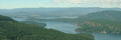 Cowichan Bay from Mount Maxwell, Saltspring