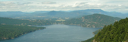 Maple Bay from Mount Maxwell, Saltspring Island