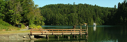 Dock, Tod Inlet Marine Park BC